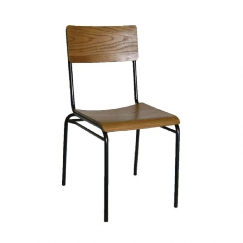 Bolero Industrial Metal Side Chairs (Pack of 2) - DA596